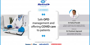 Safe OPD management and offering COVID care to patients