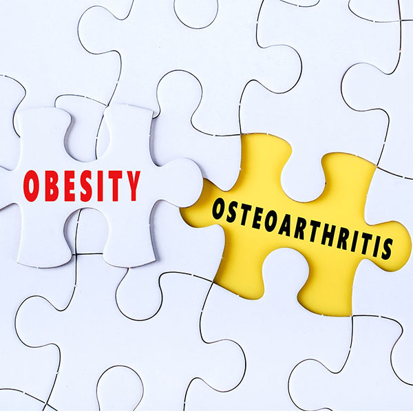 What is the link of obesity with osteoarthritis?