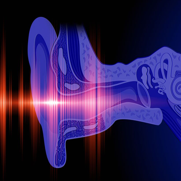 Why is there irreversible hearing loss in unsafe otitis media?