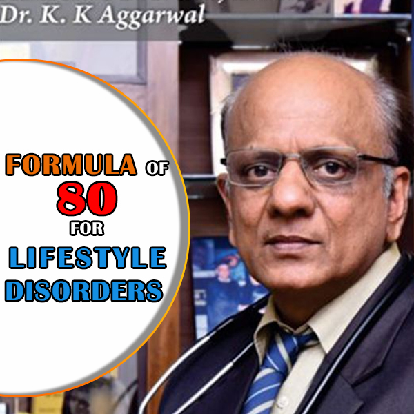 What is the formula of 80 for lifestyle disorders?