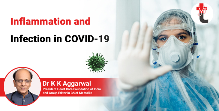 Inflammation and infection in COVID 19