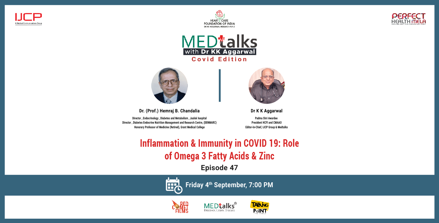 Inflammation & Immunity in COVID 19: Role of Omega 3 Fatty Acids & Zinc