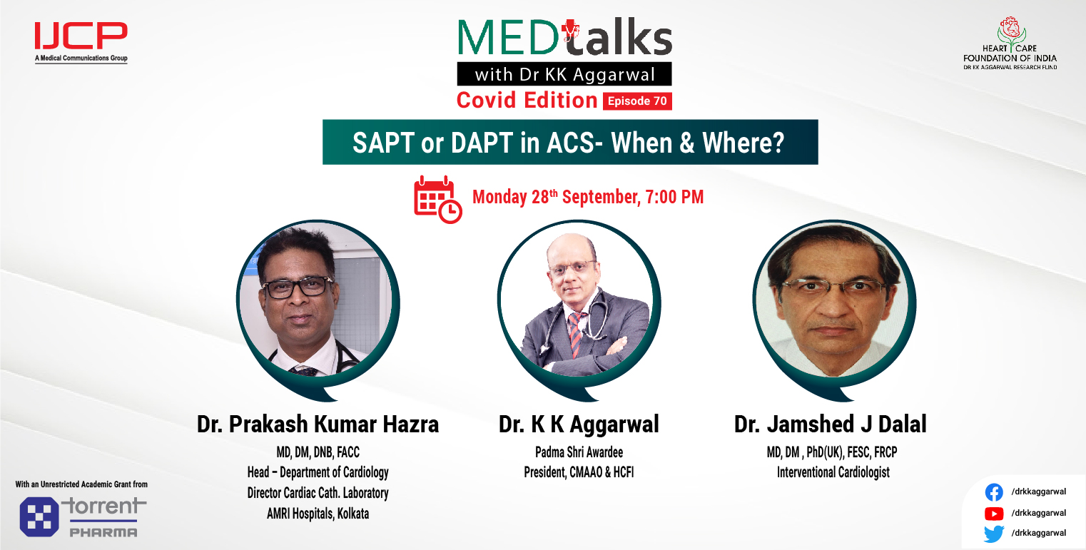 SAPT or DAPT in ACS- When & where?