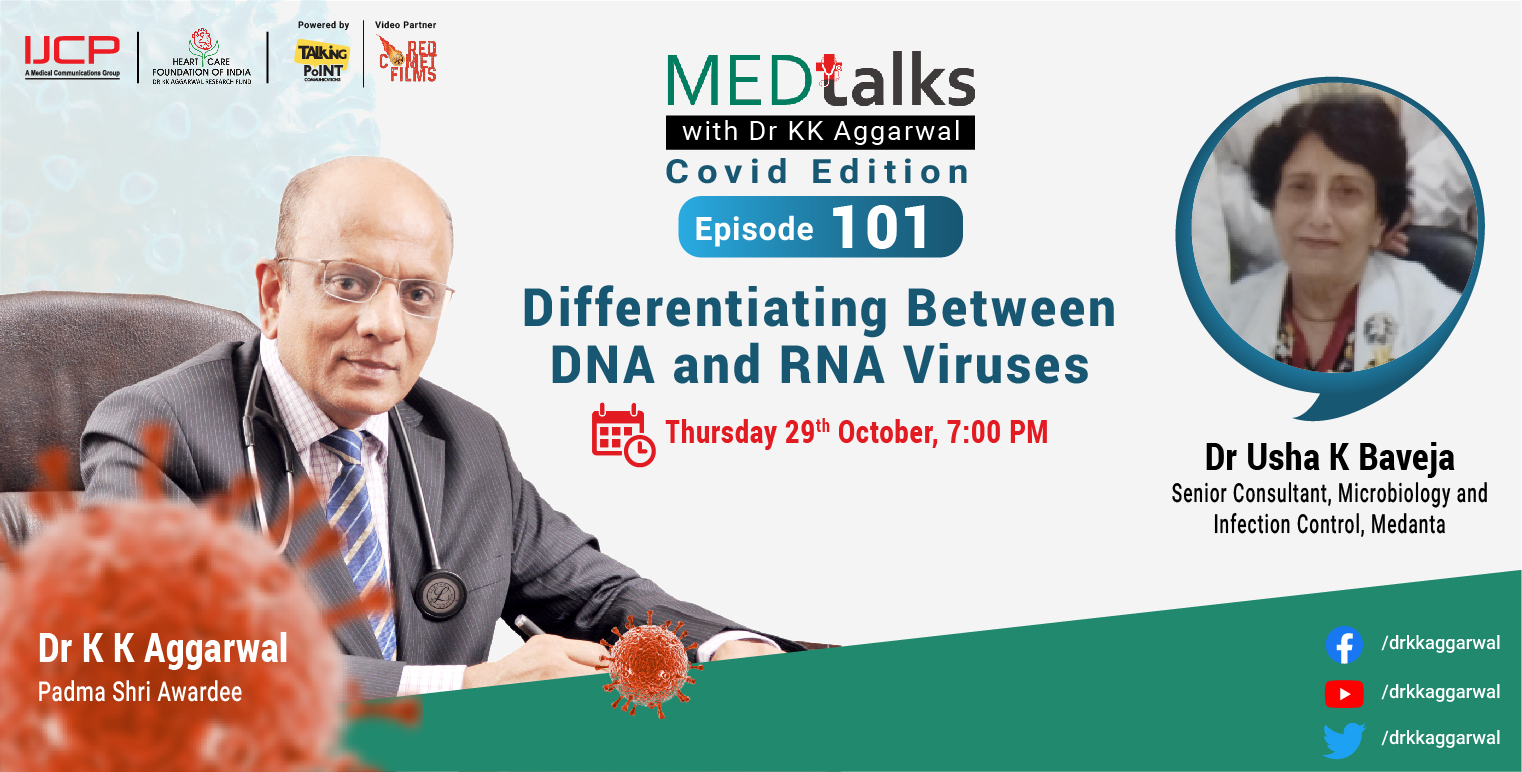Differentiating between DNA and RNA viruses