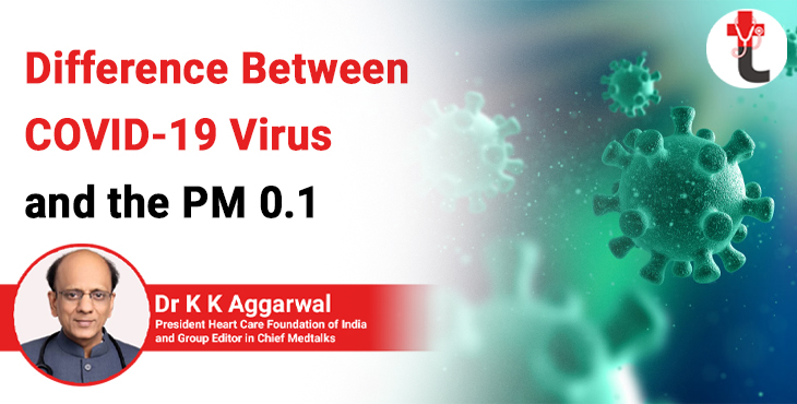 Difference between Covid 19 virus and the PM 0.1