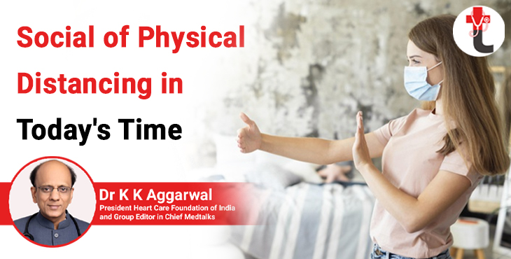 Social of physical distancing in todays time