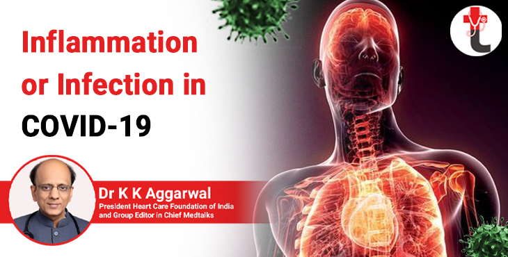 Inflammation or infection in COVID 19