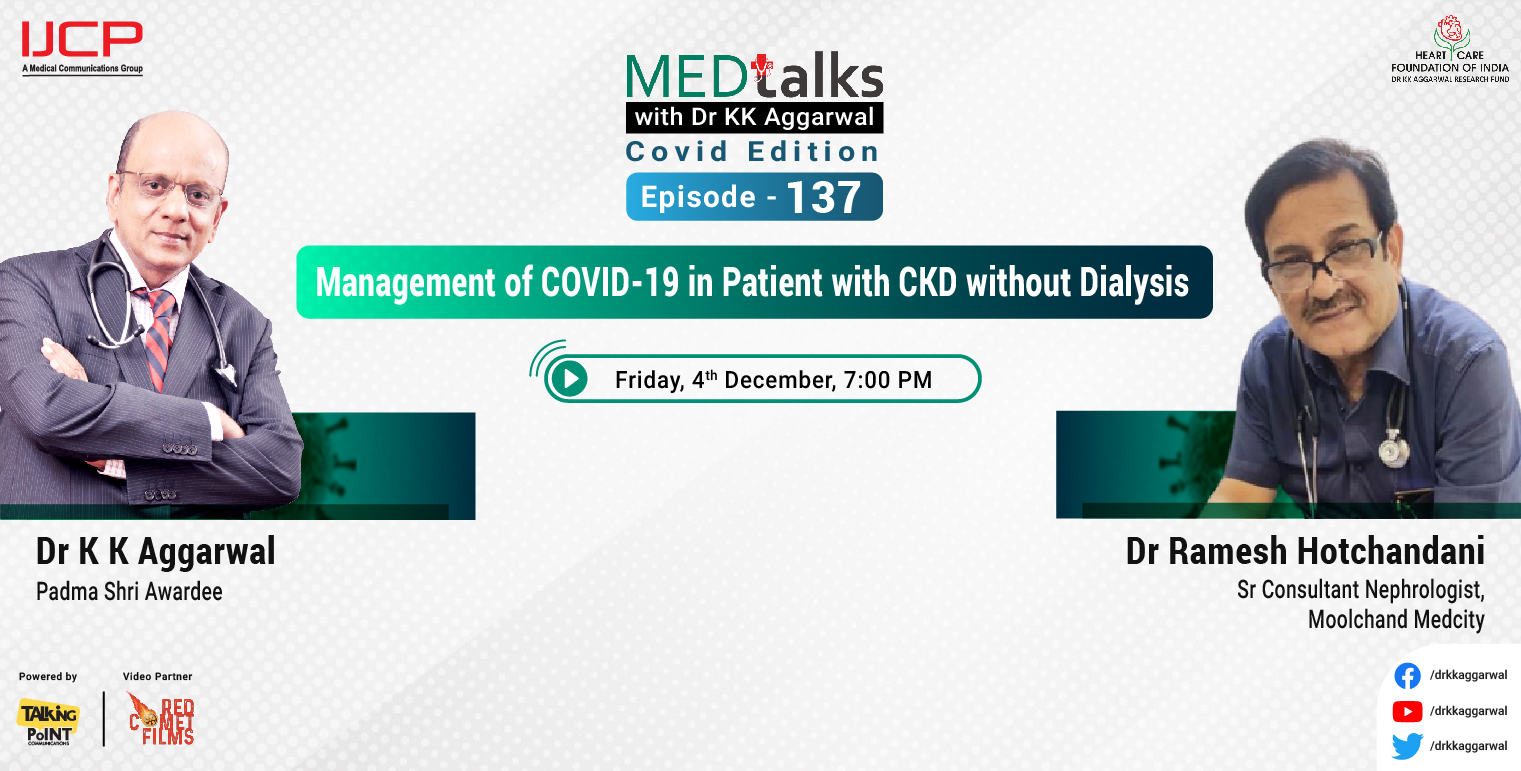 Management of COVID-19 in patient with CKD without dialysis