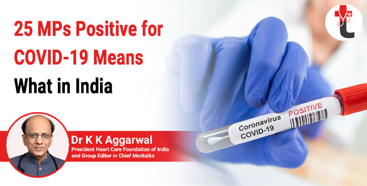 25 MPs positive for COVID 19 means what in India
