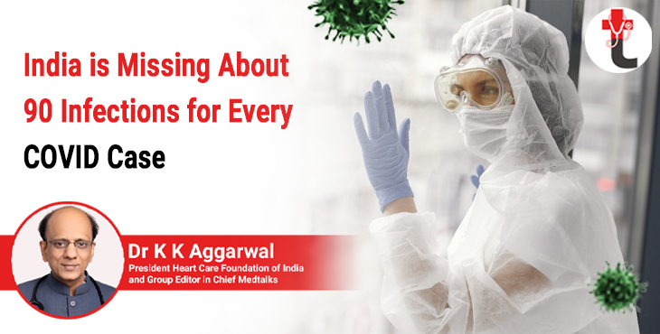 India is missing about 90 infections for every Covid case
