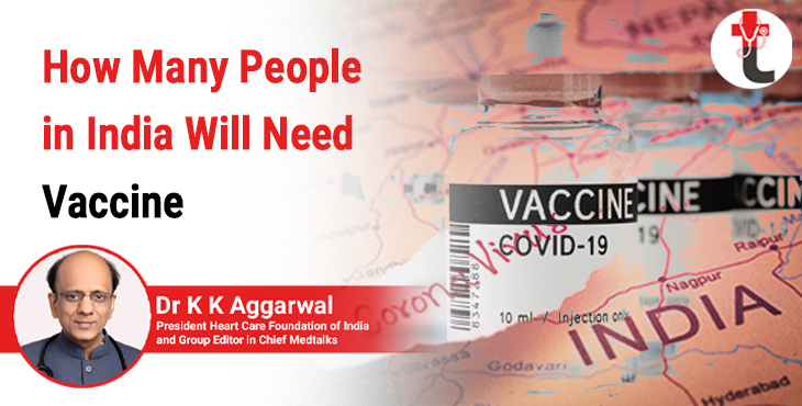 How many people in India will need vaccine