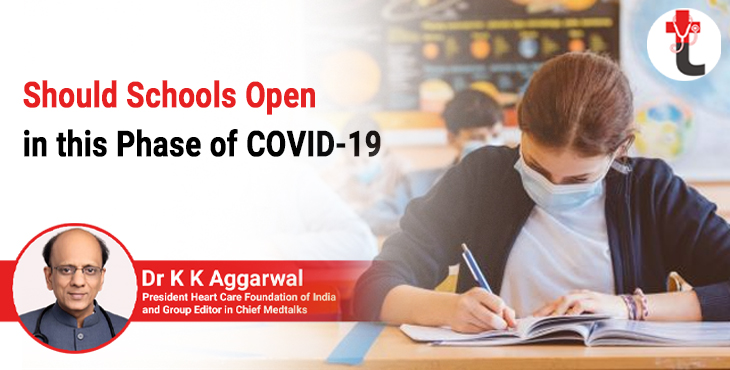 Should schools open in this phase of COVID 19