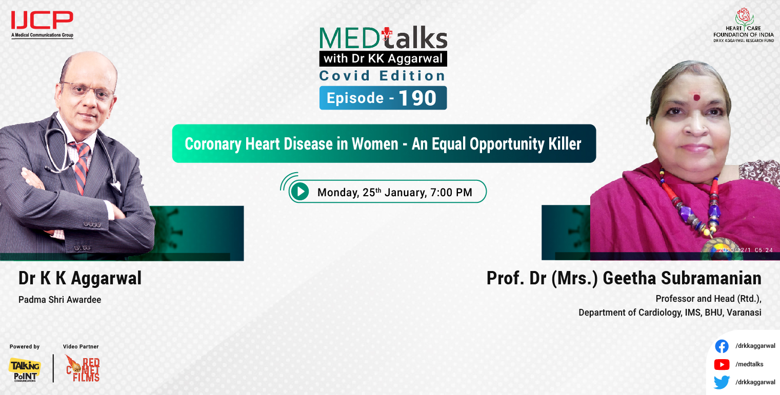 Coronary heart disease in women - An equal opportunity killer