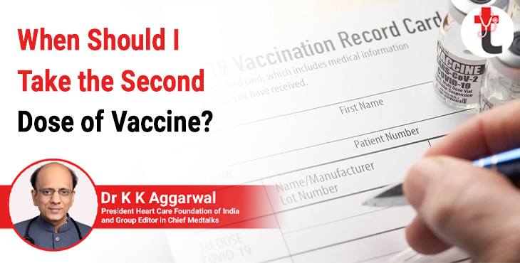 When should I take the second dose of vaccine?