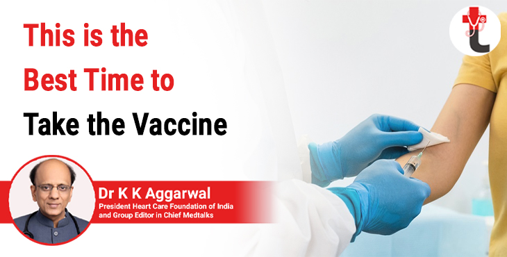 This is the best time to take the vaccine